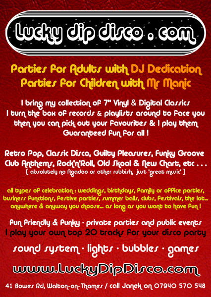 lucky dip disco flyer 2